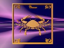 horoscope рака иллюстрация вектора