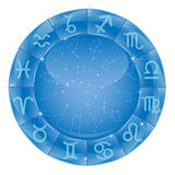 Horoscope. Zodiacal circle with zodiac sign