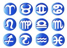 Horoscope : 12 signes de zodiaque illustration libre de droits