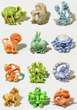 Horoscope. All horoscope signs sculpted in cartoon style Stock Photo