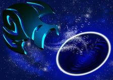 Horoscope aquarius stock illustration