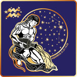 Horoscope.Aquarius zodiac sign Royalty Free Stock Photo
