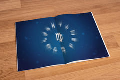 Horoscope Astrology Zodiac Traditional Prediction Fortune Sign L. Ove astrology Myth Stars Symbol royalty free stock photo