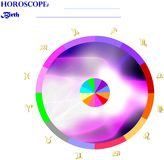 Horoscope: Birth Chart. Graphic Birth Chart ready to fill with personal information and ephemeris data Stock Photo