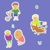 Horoscope cancer leo taurus. Vector graphic illustration design art Stock Photo