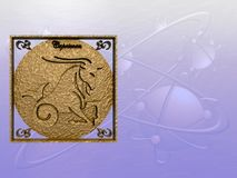 Horoscope, Capricorn ilustração royalty free