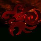 Horoscope Capricorn. Zodiac horoscope astrological capricorn on red background 3d illustration Royalty Free Stock Image