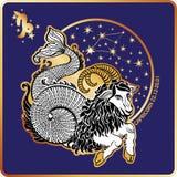 Horoscope.Capricorn zodiac sign Royalty Free Stock Photos