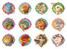 Horoscope chinois illustration stock