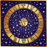 Horoscope circle.Zodiac sign Royalty Free Stock Image