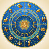 Horoscope circle Stock Photo