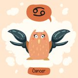 Horoscope Cute Owl Royalty Free Stock Image