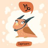 Horoscope Cute Owl Stock Image