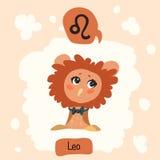 Horoscope Cute Owl Stock Photo
