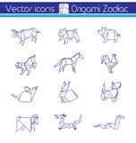 Horoscope d'origami illustration de vecteur