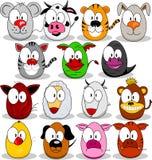 Horoscope do chinês dos desenhos animados Imagem de Stock