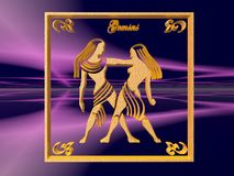 Horoscope, Gemini. Fotos de Stock