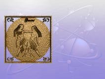 horoscope gemini иллюстрация штока