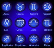 Horoscope Gems Signs Set Royalty Free Stock Photography