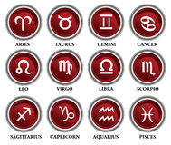 Horoscope icons Stock Photography