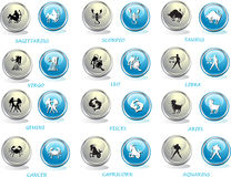 Horoscope icons Royalty Free Stock Images