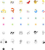 Horoscope Icons Royalty Free Stock Photography
