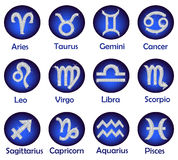 Horoscope icons set Royalty Free Stock Photography
