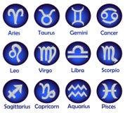 Horoscope icons set Royalty Free Stock Photography