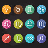 Horoscope icons set Royalty Free Stock Image