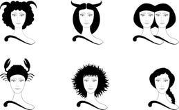 Horoscope illustration. Vektor astrology  symbol Stock Image