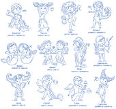 Horoscope kids set Royalty Free Stock Photos