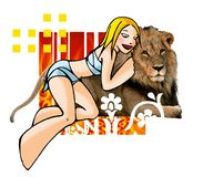 Horoscope leo with background Royalty Free Stock Photography