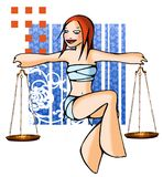 Horoscope libra with background Stock Image