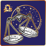 Horoscope.Libra zodiac sign Stock Photo