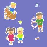 Horoscope maid sagittarius capricorn. Vector graphic illustration design art Royalty Free Stock Images