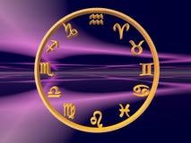 Horoscope, o zodíaco. ilustração stock