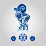 Horoscope oriental, année de la chèvre Illustration Libre de Droits