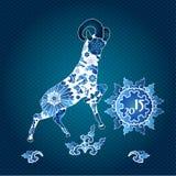 Horoscope oriental, année de la chèvre Illustration Stock