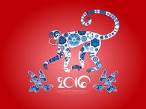 Horoscope oriental, année du singe Photos stock