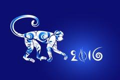 Horoscope oriental, année du singe Photographie stock