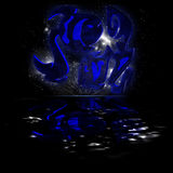 Horoscope pisces royalty free stock images