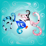 Horoscope Poissons Photo libre de droits