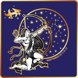 Horoscope.Sagittarius zodiac sign Royalty Free Stock Photo