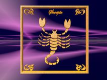 Horoscope, Scorpio stock illustration