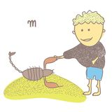 Horoscope scorpion. Vector graphic illustration design art Stock Images