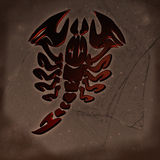 Horoscope sign scorpio Stock Photography