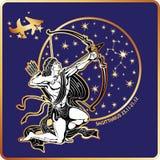 horoscope Signe de zodiaque de Sagittaire illustration stock