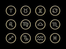 horoscope signs Στοκ Φωτογραφίες