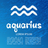 Horoscope signs - aquarius Stock Photo