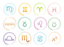 Horoscope signs set Stock Image
